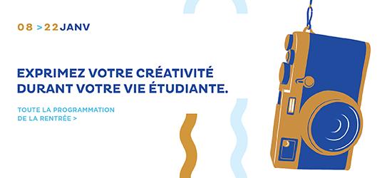 Exprimez votre créativité durant votre vie étudiante